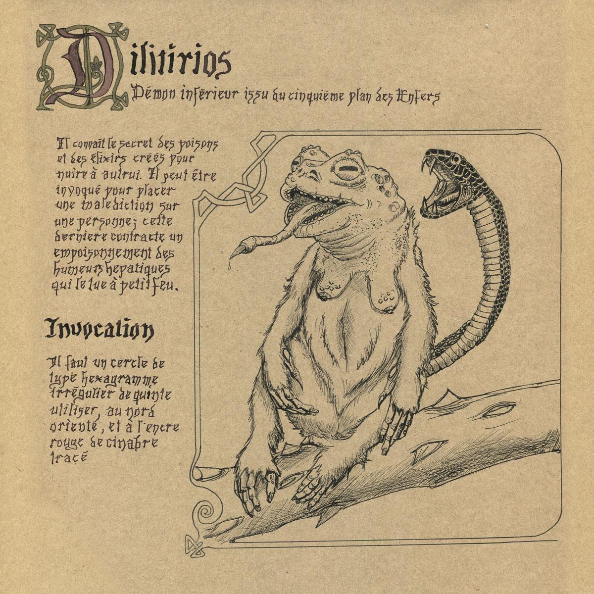 Inktober 1 : poisonous